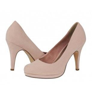 Дамски елегантни обувки на висок ток Tamaris розови