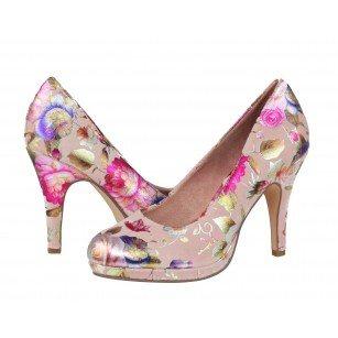 Дамски елегантни обувки на висок ток Tamaris цветни