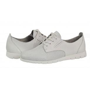 Дамски спортни обувки Tamaris естествена кожа бели