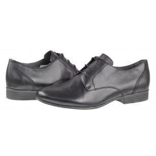 Дамски ежедневни обувки Tamaris естествена кожа мемори пяна черни