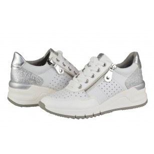 Дамски спортни обувки на платформа Tamaris бели