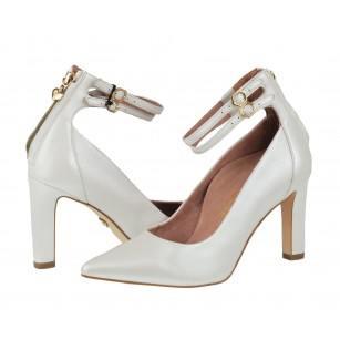 Елегантни дамски обувки на ток Tamaris Heart ♥ Sole ANTISHOKK® ANTISLIDE® бели