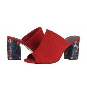 Елегантни дамски чехли на ток Tamaris червени