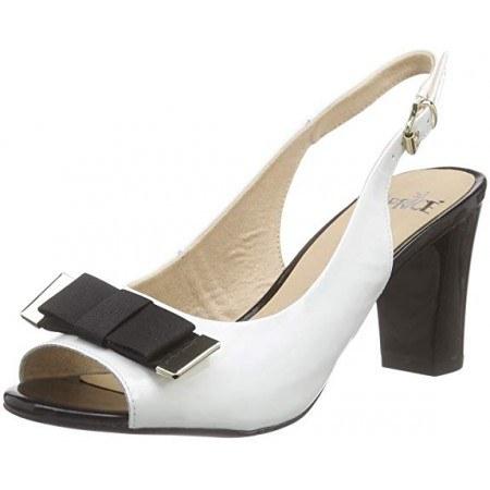 Дамски елегантни сандали на ток Caprice бели