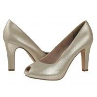 Елегантни дамски обувки на висок ток Tamaris бяло злато
