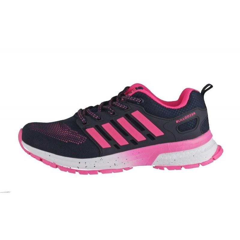 Дамски маратонки Bulldozer черни/розови