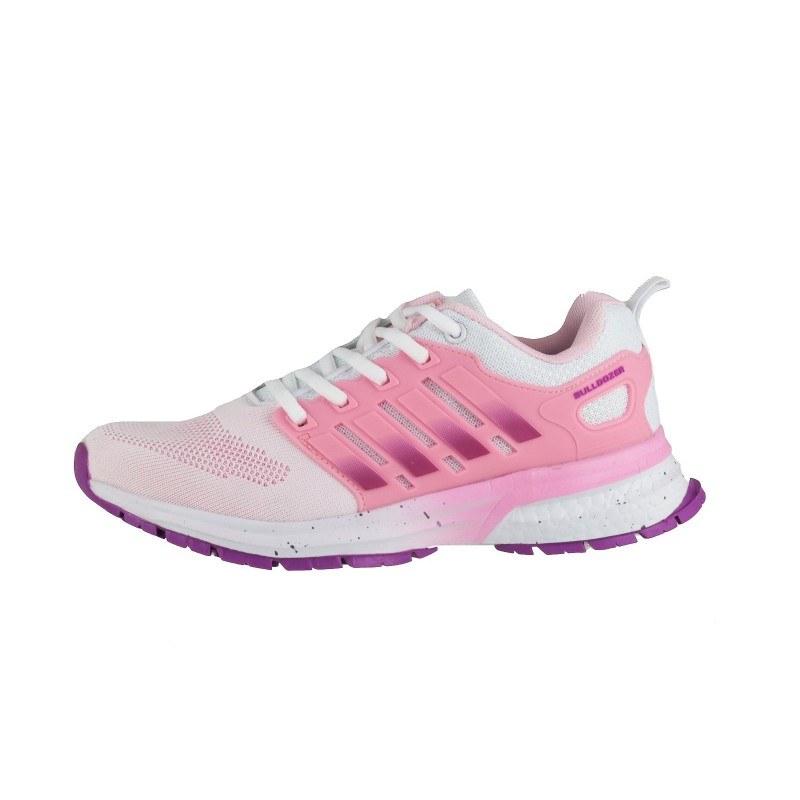 Дамски маратонки Bulldozer бели/розови
