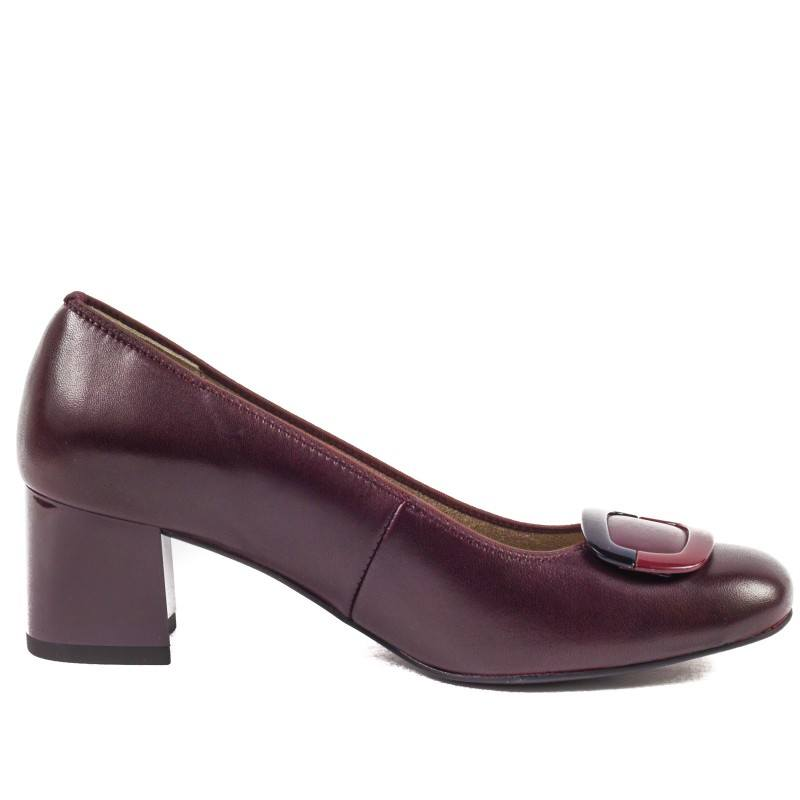 Дамски елегантни обувки на среден ток Ara бордо