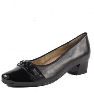 Дамски елегантни обувки Ara естествена кожа черни ширина Н
