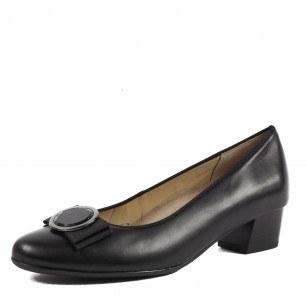Дамски обувки Ara естествена кожа черни ширина Н