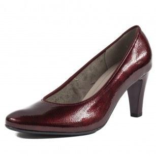 Дамски лачени обувки на ток Ara бордо