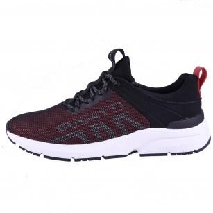 Мъжки спортни обувки с връзки Bugatti® KILAWEA черни/червени