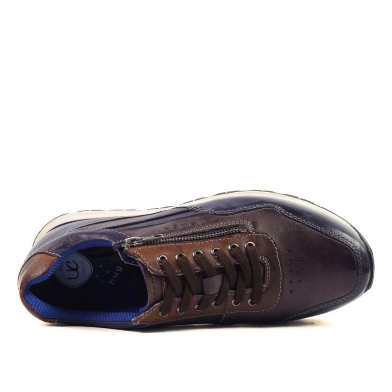 Мъжки спортно-елегантни обувки Bugatti Stranger сини/комби