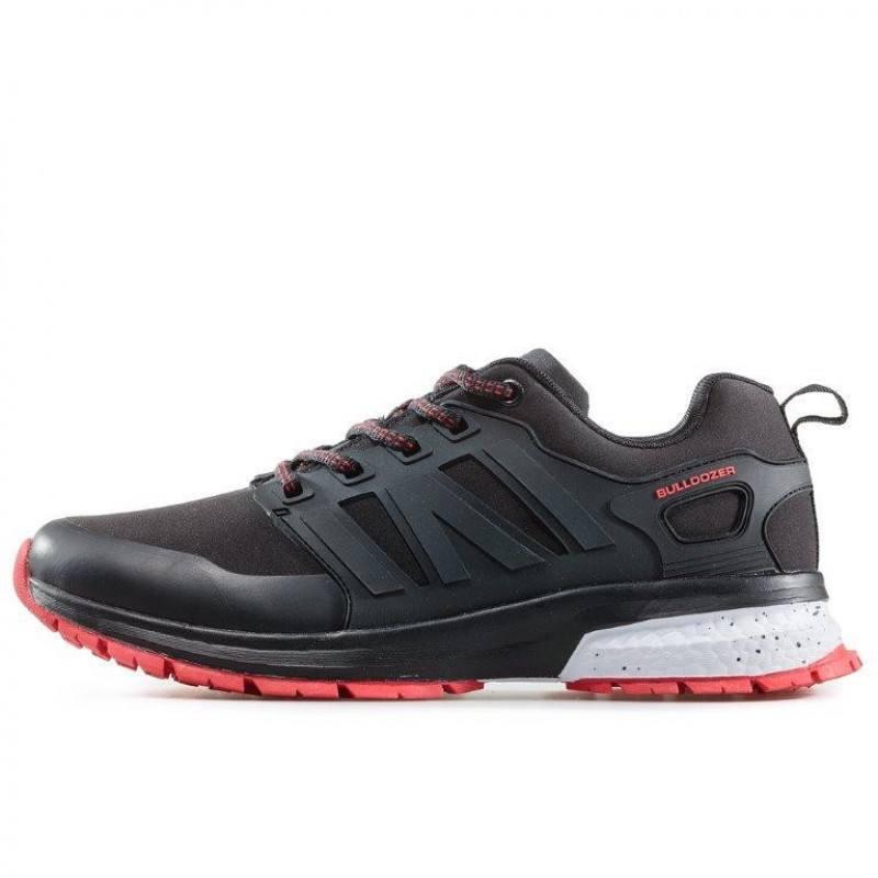 Мъжки маратонки с връзки Bulldozer черни/червени