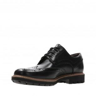 Мъжки обувки с връзки Clarks Batcombe Wing черни