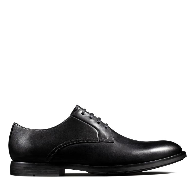 Мъжки обувки от естествена кожа Clarks Ronnie Walk черни