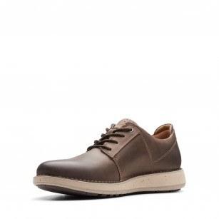 Мъжки ежедневни обувки Clarks Un Lavric eстествена кожа кафяви