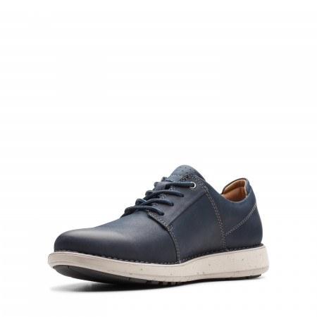 Мъжки ежедневни обувки Clarks Un Lavric eстествена кожа сини
