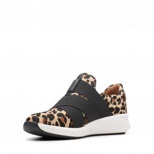 Дамски кожени обувки на платформа Clarks Un Rio Strap