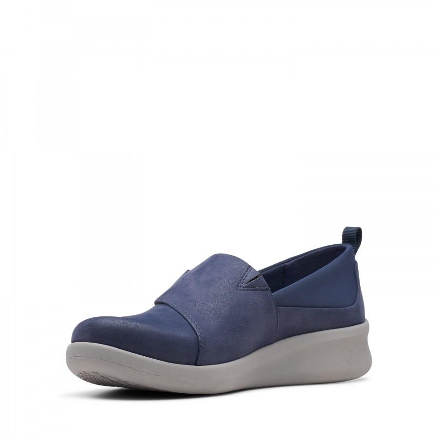 Дамски равни обувки Clarks Sillian сини