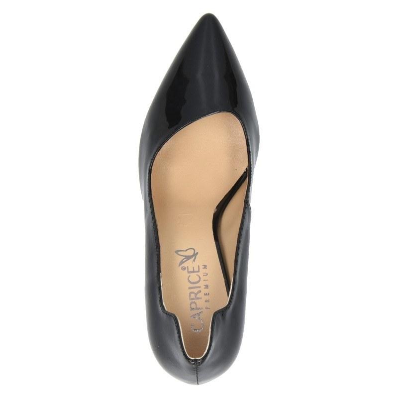 Дамски обувки на ток Caprice естествена кожа черен лак