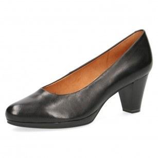 Елегантни дамски обувки на ток Caprice черни