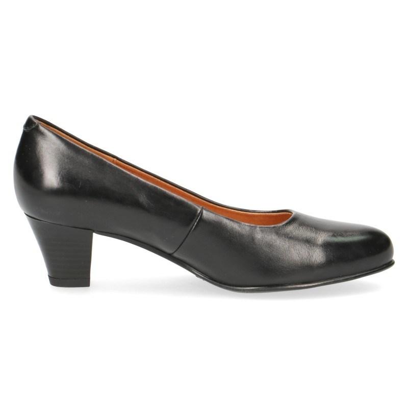 Елегантни дамски обувки на нисък ток Caprice черни