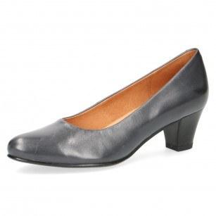 Елегантни дамски обувки на нисък ток Caprice сини