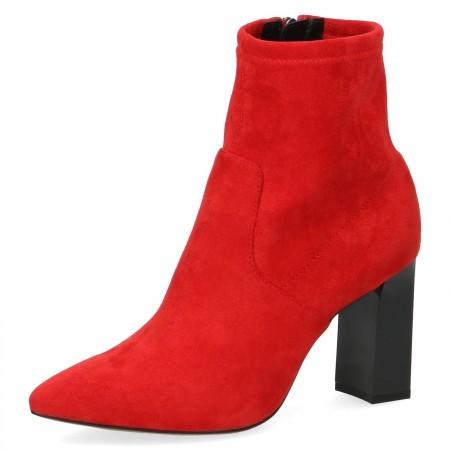 Дамски елегантни боти на ток Caprice червени