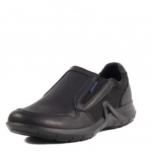 Мъжки обувки без връзки от естествена кожа Grisport мемори пяна черни