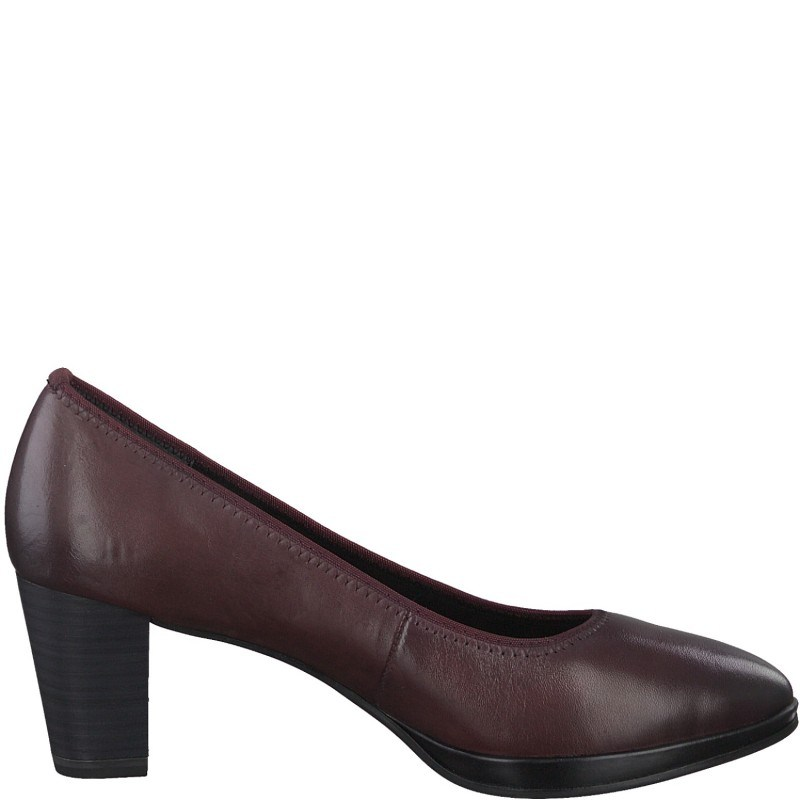 Дамски обувки на ток Marco Tozzi мемори пяна бордо