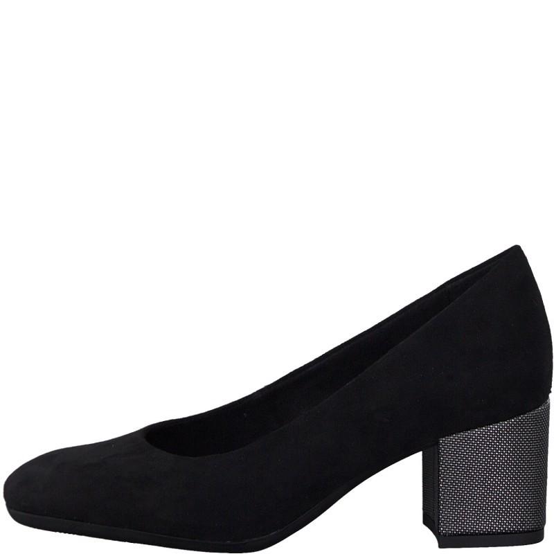 Дамски обувки на среден ток Marco Tozzi мемори пяна черни