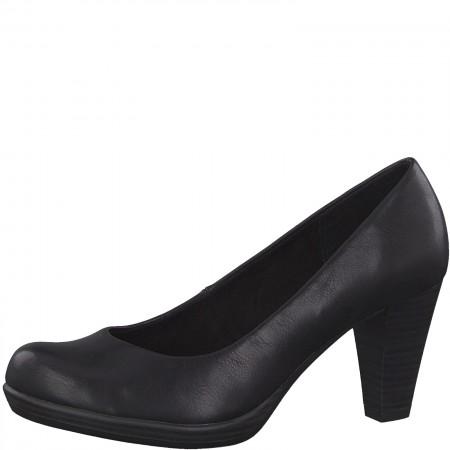 Дамски елегантни обувки на ток Marco Tozzi черни