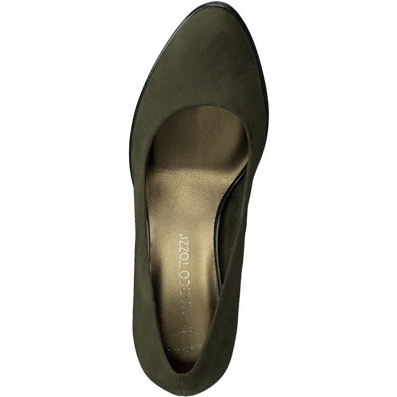 Дамски обувки на ток Marco Tozzi мемори пяна зелени