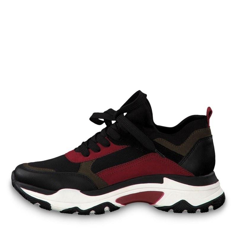 Дамски спортни обувки с връзки Marco Tozzi черни/комби