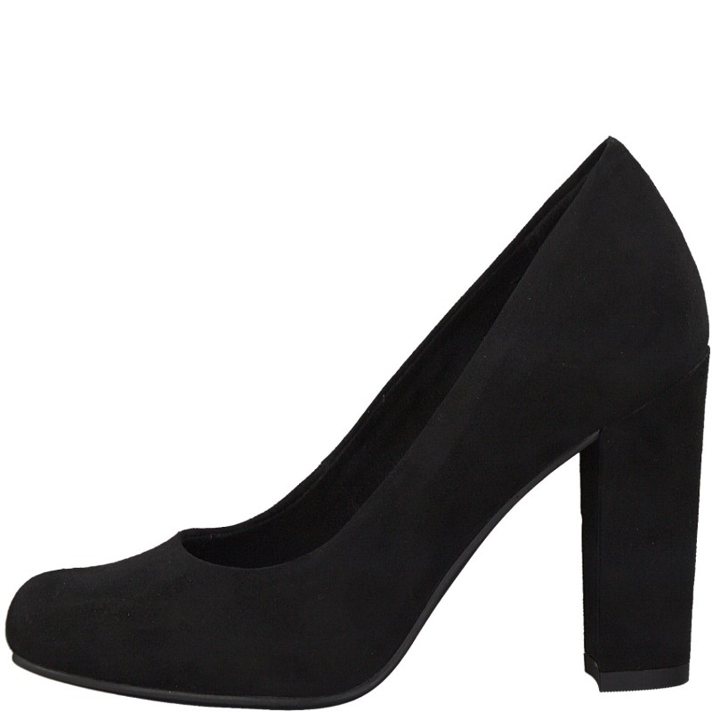 Дамски обувки на висок ток Marco Tozzi мемори пяна черни
