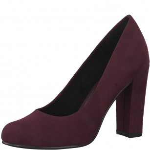 Дамски обувки на висок ток Marco Tozzi мемори пяна бордо