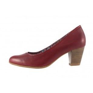 Дамски обувки на ток Tamaris червени мемори пяна