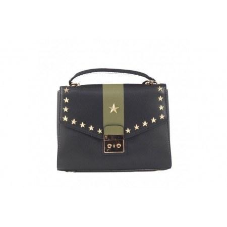 Дамска малка чанта от естествена кожа BE ME черна