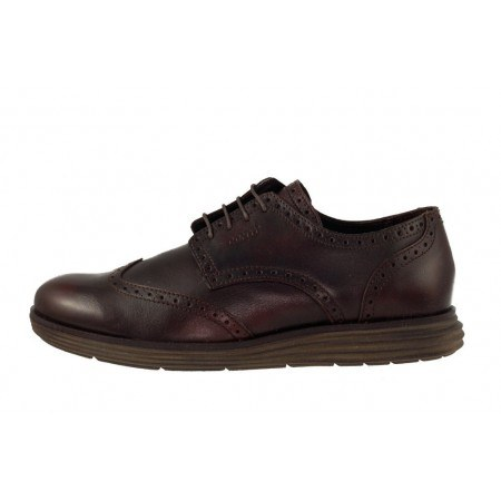Мъжки обувки от естествена кожа с връзки черни