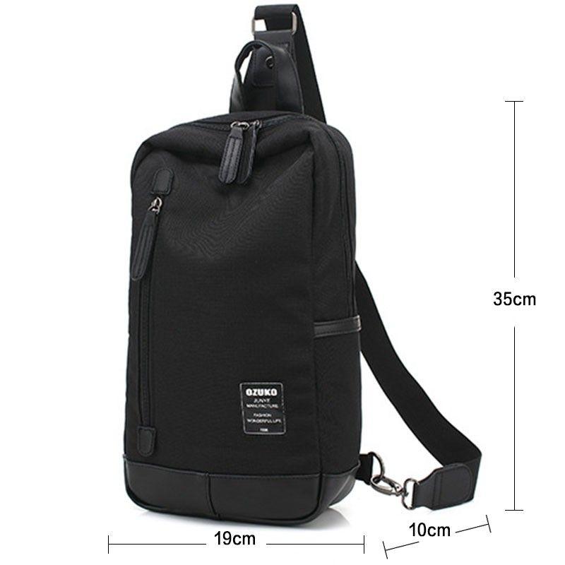 Чанта Ozuko с една презрамка черна
