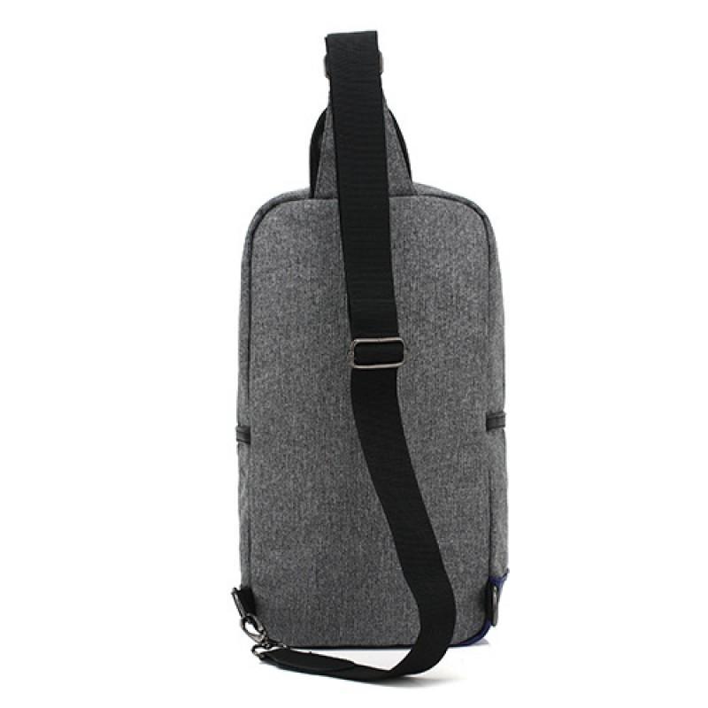 Чанта Ozuko с една презрамка сива