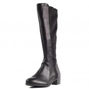 Дамски ежедневни ботуши Remonte R5174-01 естествена кожа черни