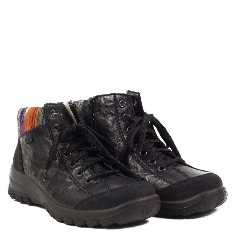 Дамски боти Rieker Tex естествена кожа черни L7130-00