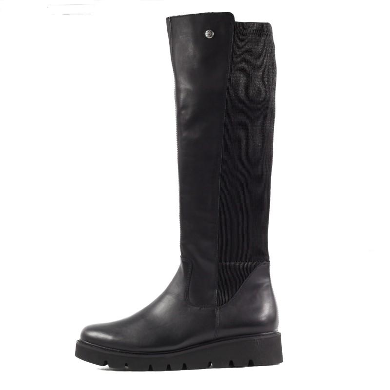 Дамски ежедневни ботуши Remonte R8071-01 естествена кожа черни