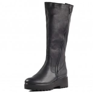 Дамски ежедневни ботуши Remonte D9782-01 естествена кожа черни