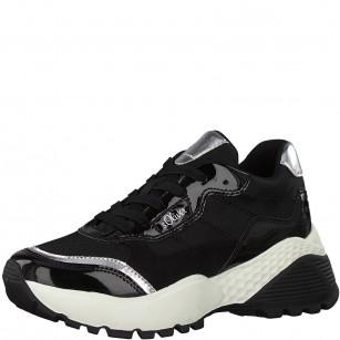Дамски спортни обувки на платформа S.Oliver черни