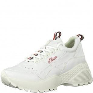 Дамски спортни обувки на платформа S.Oliver бели