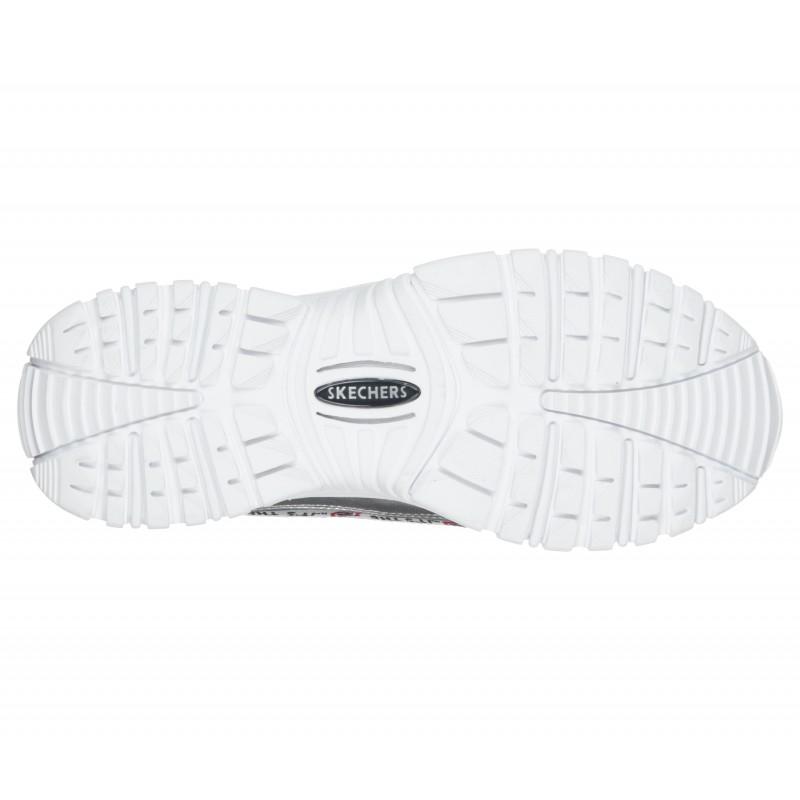 Спортни обувки на платформа Skechers мемори пяна сребристи