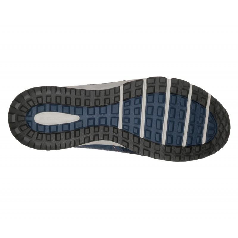 Мъжки спортни обувки Skechers Water Repellent сини мемори пяна естествена кожа